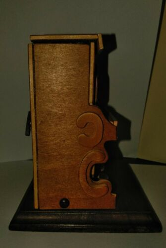 VINTAGE HANDMADE WOODEN PLAYER PIANO MUSICBOX