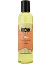 MASSAGE OIL SWEET ALMOND AROMATICS BODY OIL 8 oz OPENED - $15.63