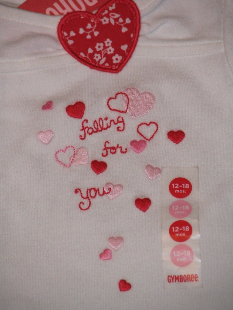 NWT Gymboree Valentines Falling Hearts Top T Sz 12 18