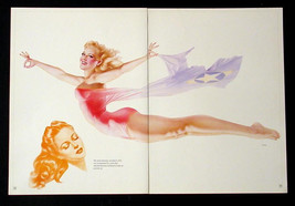 VARGAS LOT 3 PIN-UP GIRL CENTERFOLD POSTERS FROM 1945 ESQUIRE MILITARY P... - $24.97