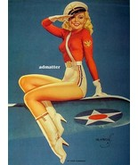 Earl MacPherson Pin-up Girl Poster Air Force Plane with Incredibly Hot L... - $12.59
