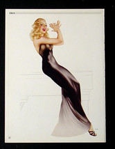 VARGAS PIN-UP GIRL POSTER IN SINGING ON A PIANO FIRE HOT!  FROM 1944 PAI... - $16.82