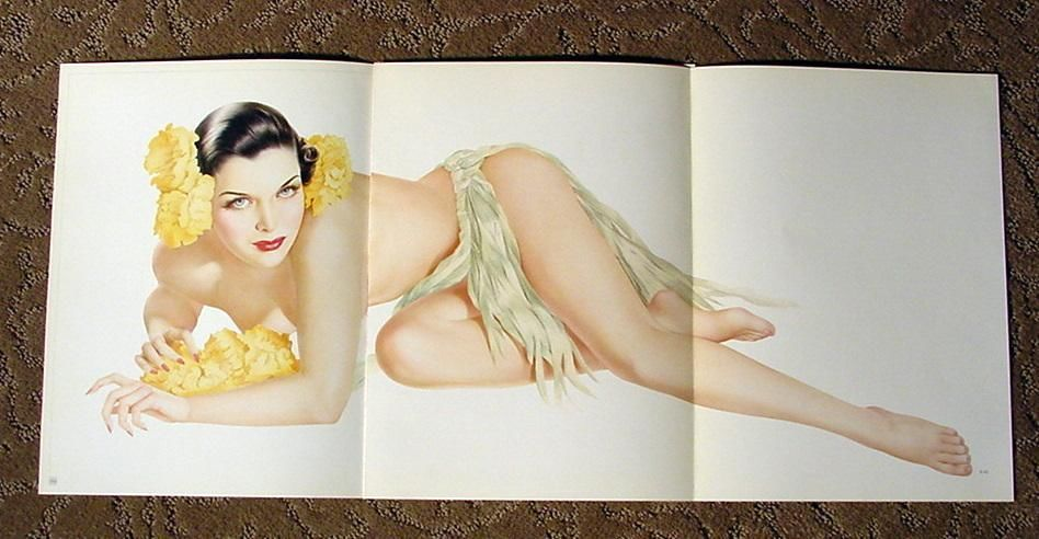 VARGAS LOT OF 7 PIN-UP GIRL CENTERFOLD OUT PRINTS! 1943 ESQUIRE MAGAZINE HOTTIES - $74.24