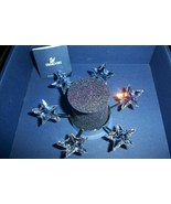 Swarovski 6 Stars Christmas Tealight 683981 Candle Holder Rhodium Plated... - $84.90