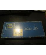 Vintage Ekco Flint Vanadium 5 of 6 Pc. Holdster Set w. Wood Wall Holder - $14.69