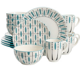 Laurie Gates Luminescent 16 Piece Dinnerware Set, Hand Painted - $84.10