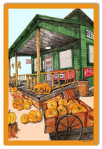 Pumpkin Patch Reproduction Country Store Metal Sign 12x18 - $23.76
