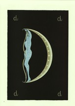 "Erte, Semi-Nude ""D"" from ""The Alphabet"" collection. Vintage 1978 Art Dec... - $18.02"