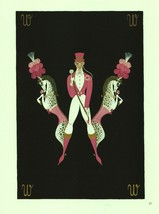 "Erte, Horses & Trainer ""W"" from ""The Alphabet"" collection. 1978 Art Deco... - $18.02"