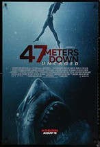 "47 METERS DOWN UNCAGED - 27""x40"" D/S Original Movie Poster One Sheet 201... - $19.59"