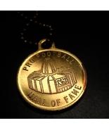 Pro Football Hall of Fame Key Chain Gold Color Metal Canton Ohio Dedicat... - $6.99