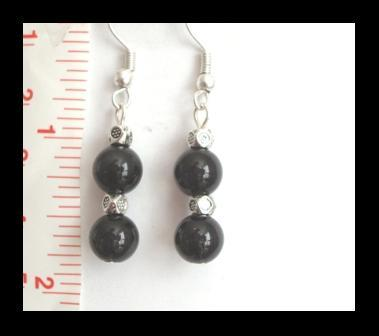 Black Cat Eye Earrings