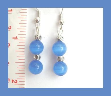 Stunning Blue Cat Eye Earrings