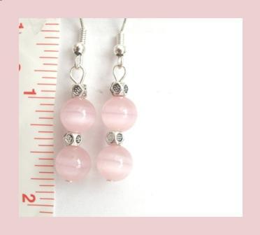 Pink Cat Eye Earrings
