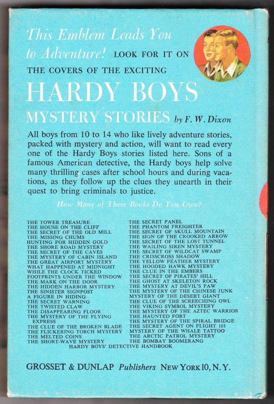 Hardy Boys Vintage 1966 Book The Mystery of Cabin Island