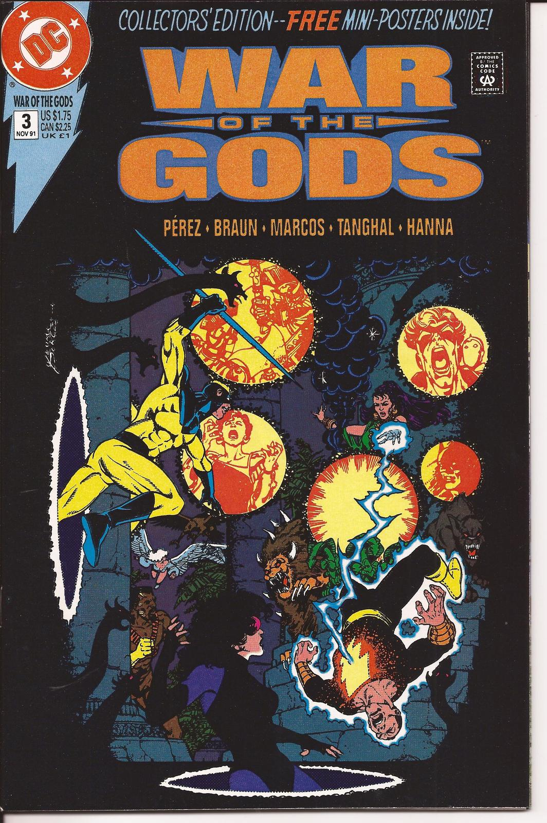 DC War Of The Gods #1-4 Set VF/NM Wonder Woman Dr Fate Superman Captain Marvel