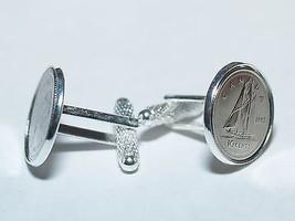 40th birthday coin cufflinks 1977 Canadian dime coin cufflinks Great gif... - $21.50