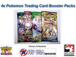 4 Random Pokemon Booster Packs from Newest Sets POKEMON TCG CARDS SEALED... - $15.49