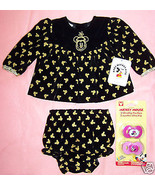 BABY MICKEY MOUSE & CO 0-6/NB DRESS & PANTIES  NEW - $11.88