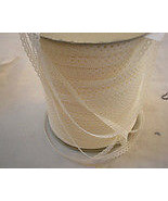Roll beige eyelet 1/2 inch lace trim approx 644 yards NEW - $99.00