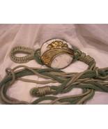 RAKU Pottery Buckle handcrafted 1 of kind BELT adjustable GREEN tones NEW - $59.00