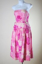 Anthropologie Odille 2 XS Sun Dress Pink White Purple Floral Strapless B... - $26.43
