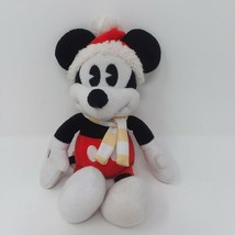 """Disney Vintage Style Mickey Mouse Winter Hat & Scarf 9"""" Plush Just Play LLC RARE - $15.85"""