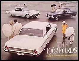 1962 Ford Brochure Fairlane Galaxie Falcon Thunderbird - $6.41