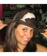 Cowboy hat,stetson made of pure leather, handmade  - $42.00