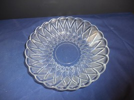 "Vintage Pretzel Clear Indiana Glass Soup/Cereal Bowl Textured 7 1/2"" - $8.90"