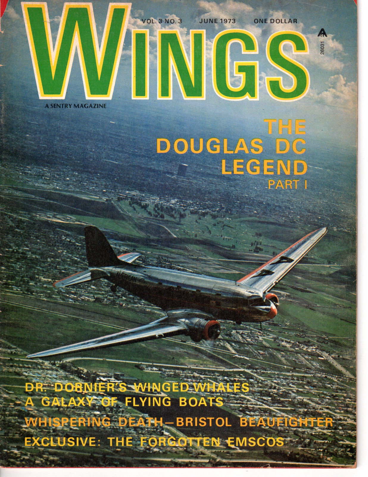 Primary image for Wings Magazine  June  1973  Vol. 3  No.3   <<>> See Index for Conten
