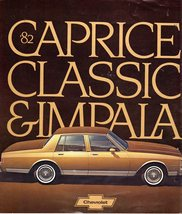 1982   82 Chevrolet Chevy Caprice Classic Impala Brochure  - $1.95