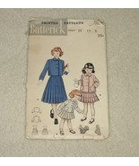 Retro/Vintage Butterick Pattern #6236 Girls Sz 6 Suit W/Double Breasted ... - $3.99