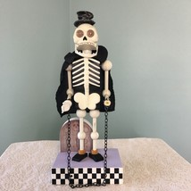 Animated Halloween Skeleton in Chains Blinking Red Eyes RIP Dead Decorat... - $22.76