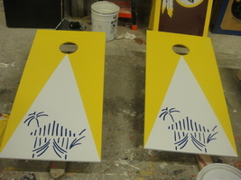 Custom Logo Corn Hole Game - Regulation sized boards and bags - $175.00