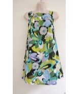 Nwt Kal Kaur Rai LF Woven Beach Sun Dress Top S M Small Medium Floral Gr... - $44.50