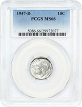 1947-D 10c PCGS MS66 - Roosevelt Dime - $33.95