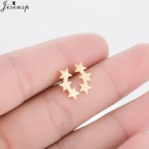 Jisensp Vintage Geometric Little Star Earrings Punk Stud Earring Women Brincos J - $7.99