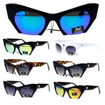 Giselle High Fashion Avant Gard Crop Bottom Cat Eye Sunglasses - £7.06 GBP+