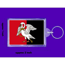buckinghamshire uk flag  keyring  handmade in uk from uk made parts, keyring, ke