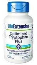2 PACK Life Extension Optimized Tryptophan Plus Sleep Stress Mood Seratonin - $37.38