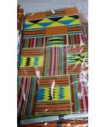African Textile Fabric Kente Ankara Print - $25.99