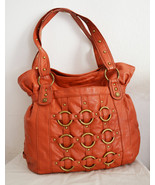 Free Ship Large Faux Leather Purse Orange XOXO Shoulder Bag - $29.99