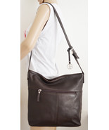 Free Ship Giani Bernini Soft Brown Leather Purse Clean Shoulder Bag - $29.99