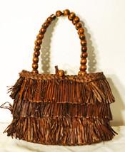 Free Ship Brown Grass Sisal Purse Small Handbag... - $19.99