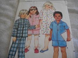 Child's Nightshirt, Top, Pants & Shorts Pattern Butterick 6034 - $8.00