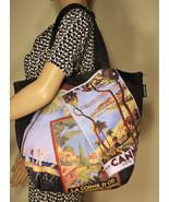 Lancome Tote Cannes France Shoulder Bag Black Purse - $17.00