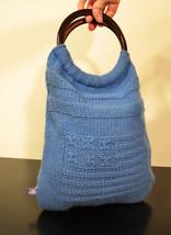 Free Shipping Ralph Lauren Polo Jeans Blue Knit Purse Bag - $18.99