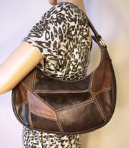 Vintage Franco Sarto Italian Brown Suede Leather Purse Shoulder Bag - $14.99