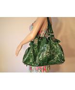 Aldo Large Green Faux Patent Leather Purse Shoulder Bag Hobo - $35.00